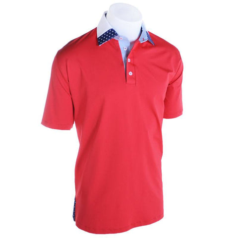 Red Glare Golf Polo - Alial Fital American made polos for men - 1