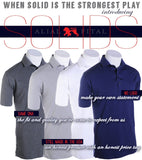 Navy Solid Polo - Alial Fital American made polos for men - 5