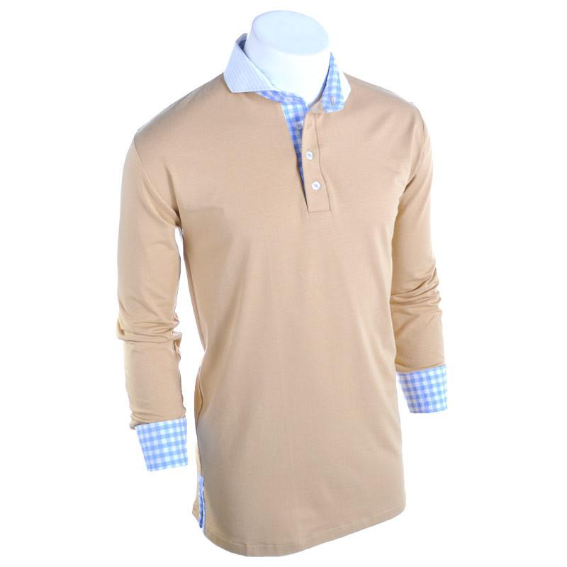 The Oasis Long Sleeve Polo - Alial Fital American made polos for men - 1