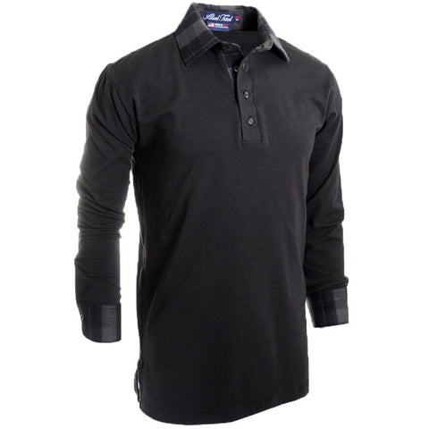 Thunderball Long Sleeve Polo - Alial Fital American made polos for men - 1