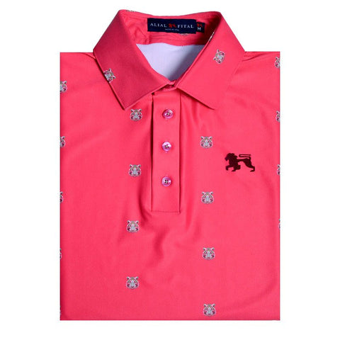 Tigers Fuschia Jungle Polo - Alial Fital American made polos for men - 1