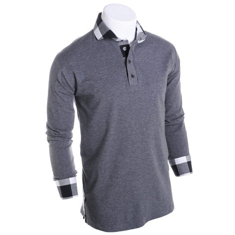 West Coast Ghost Long Sleeve Polo - Alial Fital American made polos for men - 1