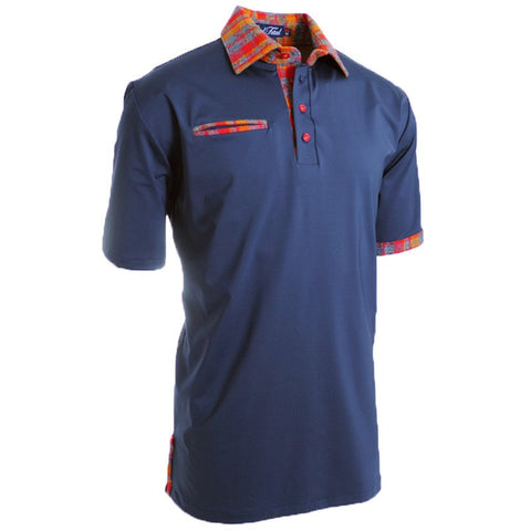 Whaam Navy Polo - Alial Fital American made polos for men - 1