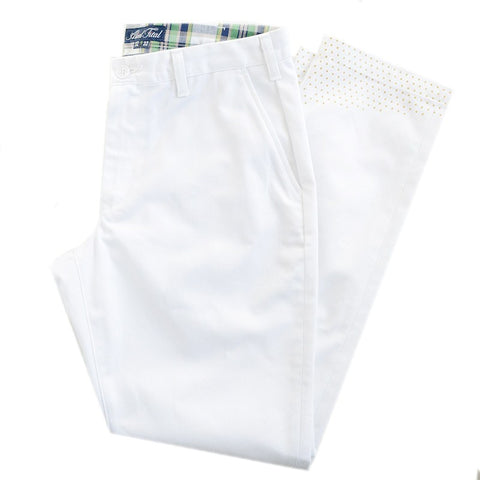 White Gold Pin Pant - Alial Fital American made polos for men - 1