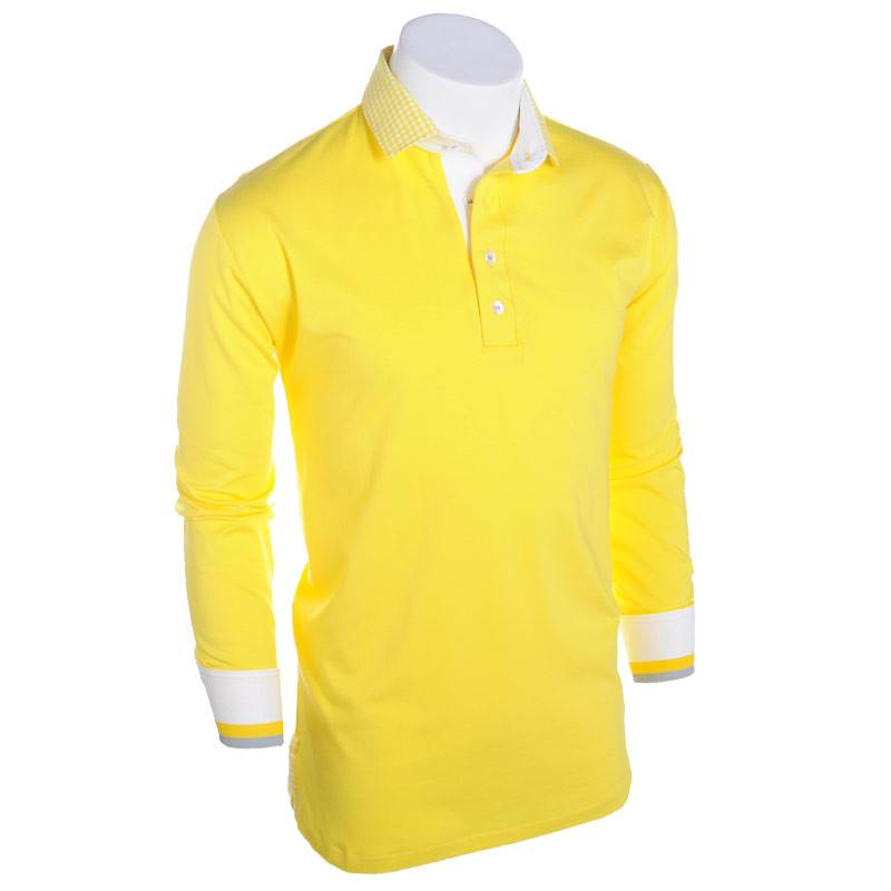 In the Zone Long Sleeve Polo - Alial Fital American made polos for men - 1