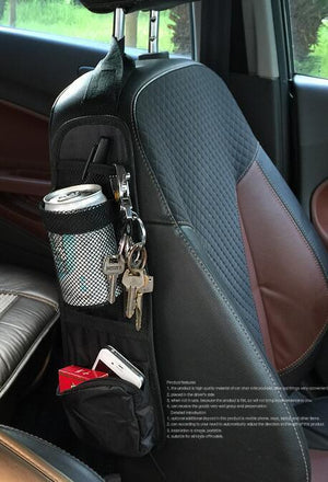 Multi purpose bag for car seat side storage