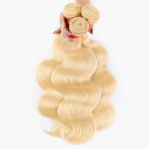 Blonde Color 3 Bundles Body Wave Virgin Human Hair