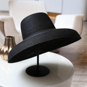 Hepburn Style Wide Brim Beach Sun Straw Hat