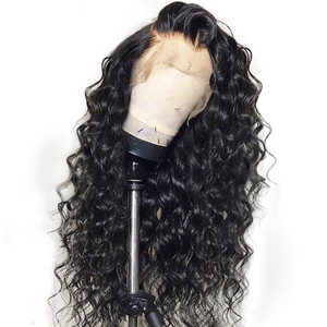 January 2019 Curly Lace Front Brazilian hair wig Black