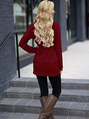 Heap collar slit Sweaters