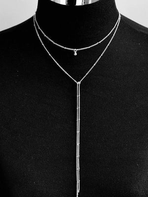 Geometric Metal Long Necklace