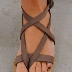 Plain Flat Velvet Ankle Strap Peep Toe Beach Casual Sandals