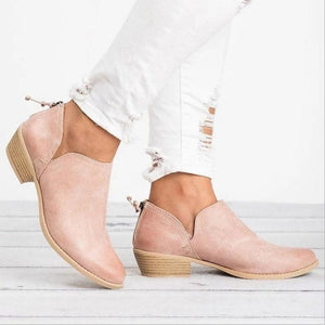 Women Pu Boots Casual Daily Chunky Shoes