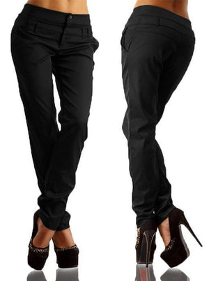 High-waisted casual harlan pants