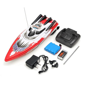 Red Green Plastic Durable Remote Control Twin Motor High Speed Racing RC Boat Toy