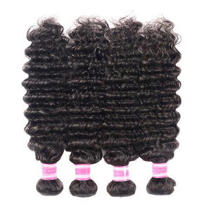 Brazilian Virgin Hair Deep Wave 4 Bundles Fee Shipping