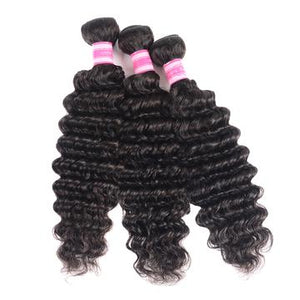 Malaysian Virgin Hair Deep Wave 3 Bundles Free Shipping