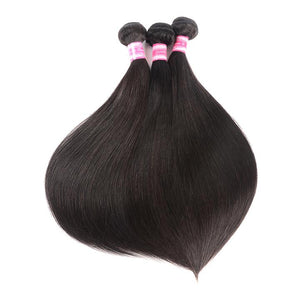 Brazilian Virgin Hair Weft Silky Straight Free Shipping 3 Bundles