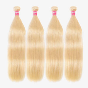 Blonde Hair 4 Bundles Straight Human Virgin Hair