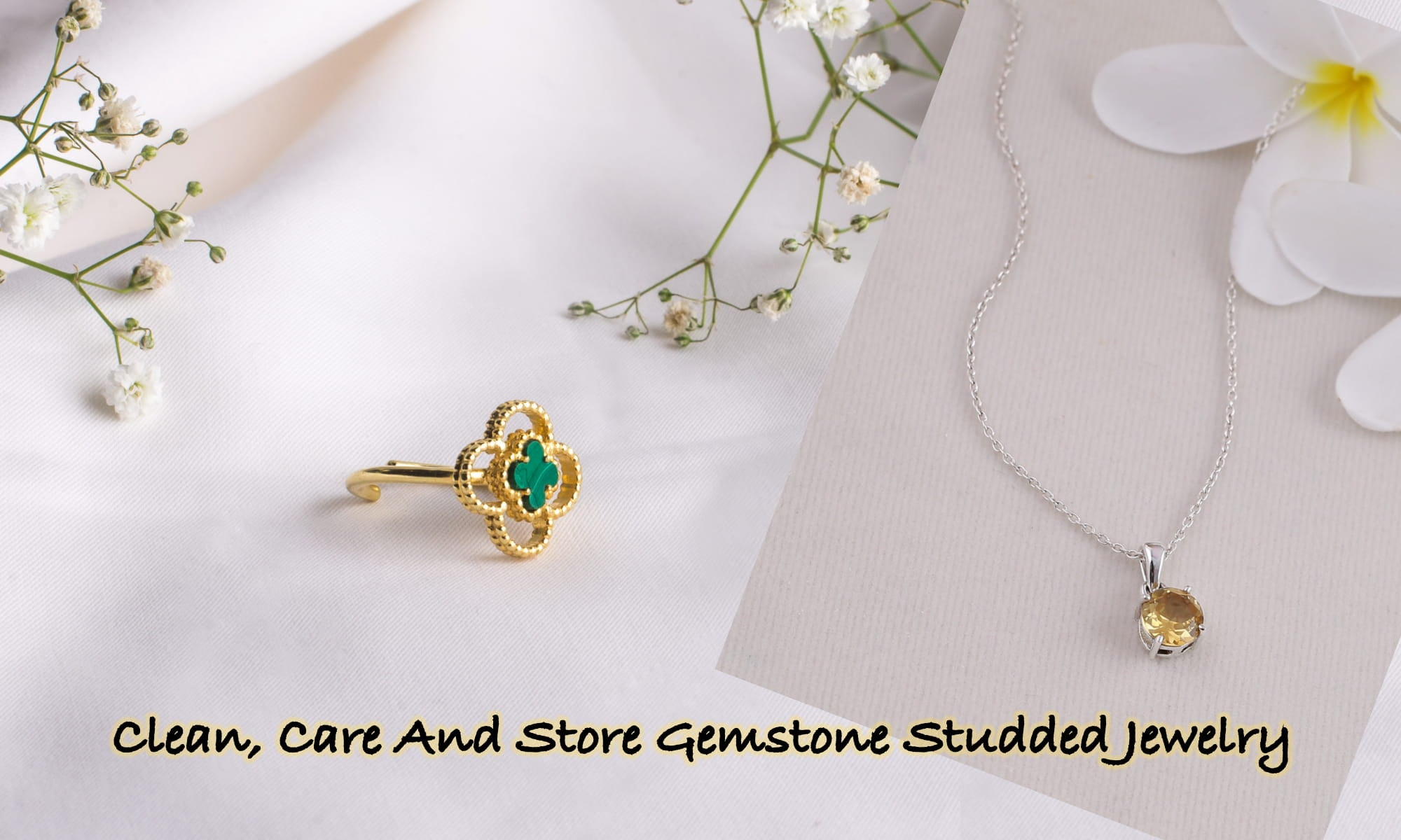 Clean, Care And Store Gemstone Studded Jewelry