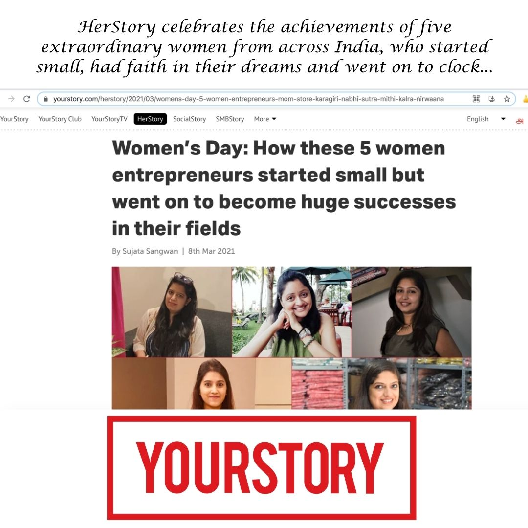 YourStory Article on International Women's Day 2021