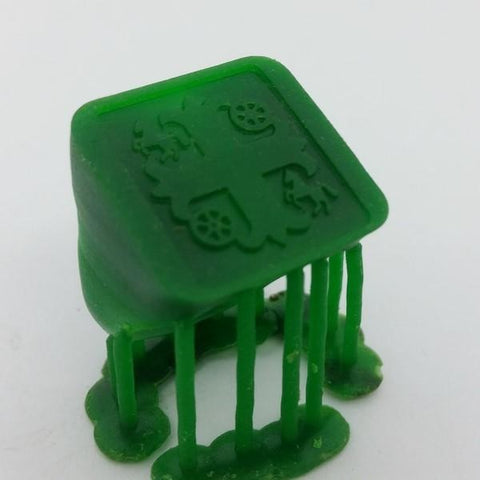3D wax model obtained from 3D printing process