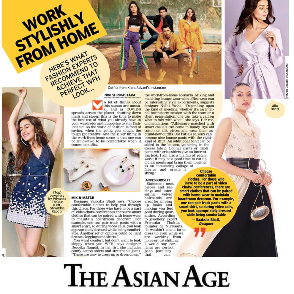 Asian article styling tips while WFM mentions Nirwaana