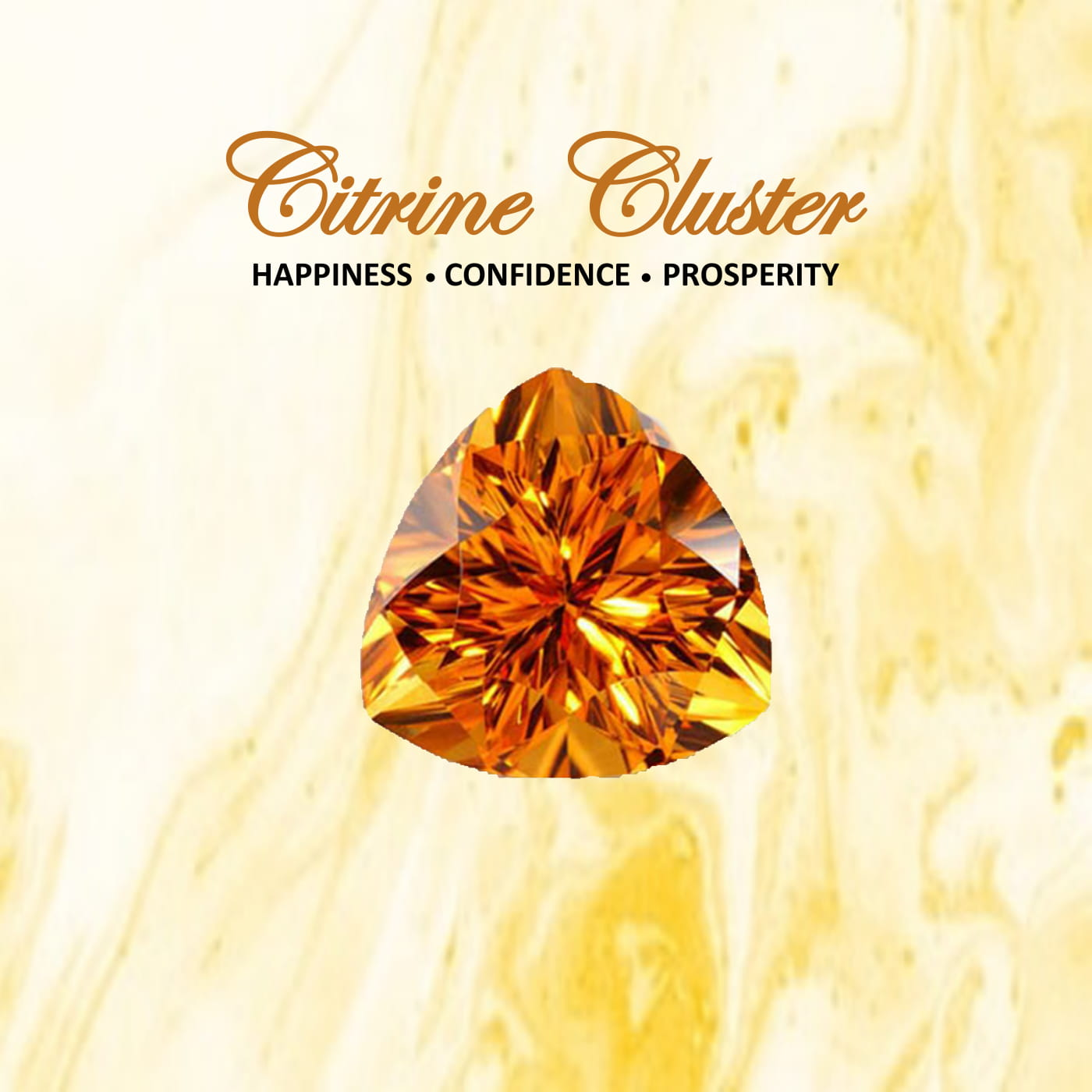 Latest Collection Citrine Cluster by Nirwaana