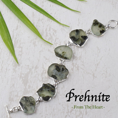Prehnite Stone Jewelry Collection