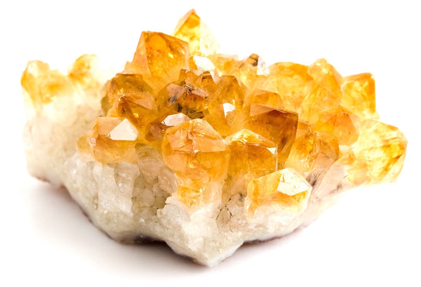Bright Yellow Citrine Druzy Cluster