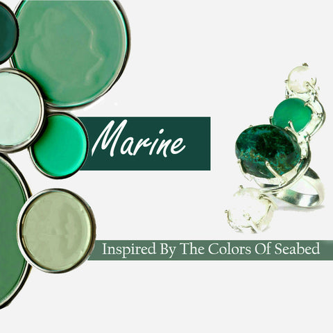 Marine Colors Inspired Semi-precious stones Collection