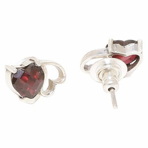 Twin heart shaped ear studs