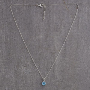 Front view of Sagittarius Birthstone Necklace