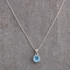 Blue topaz stone necklace