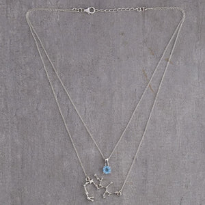 Front view of Sagittarius Layered Necklace