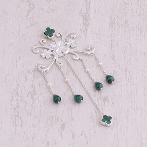 Silver 4 Leaf Clover Earrings Nirwaana