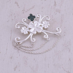 4 Leaf Clover Brooch by Nirwaana