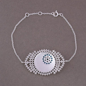 Back view of evil eye bracelet