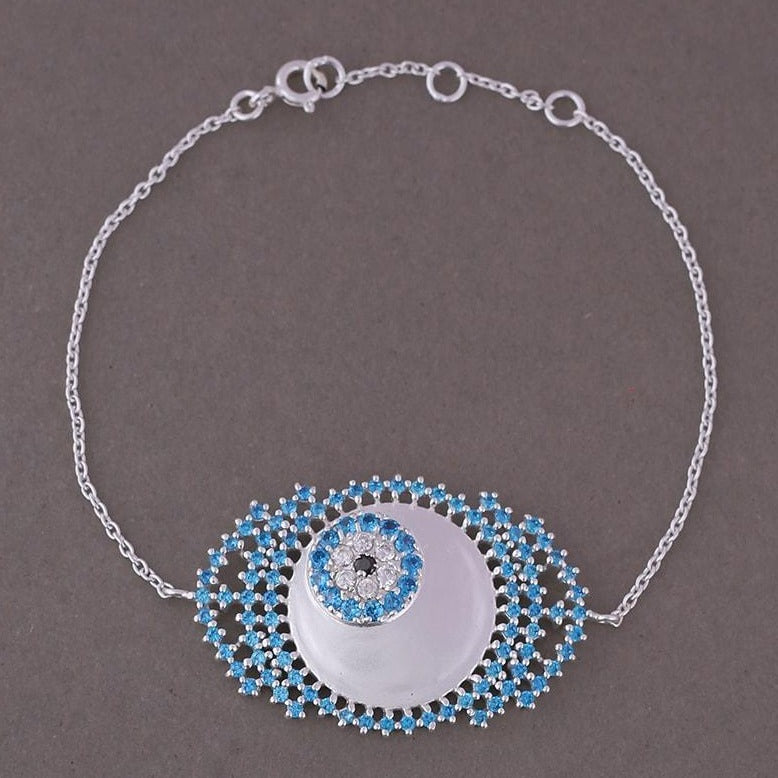 Evil eye bracelet in blue