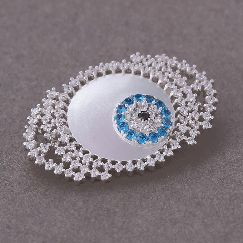 evil eye talisman brooch