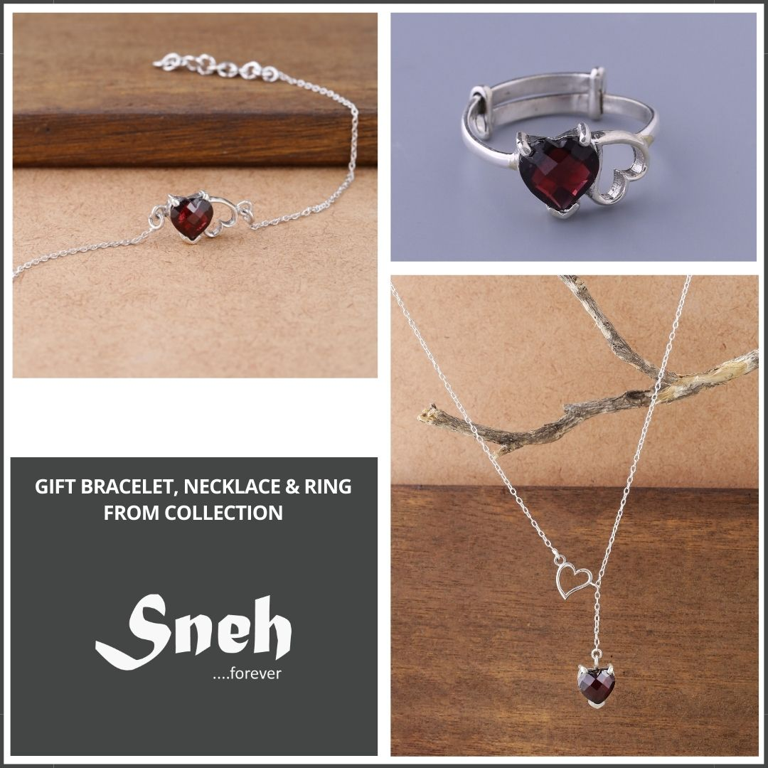 Sneh Collection necklace bracelet and ring for gift