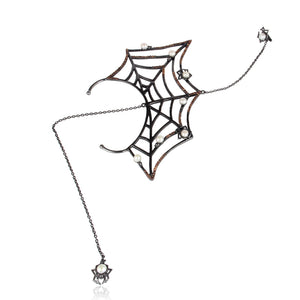 White Spider Ear Cuff Talisman