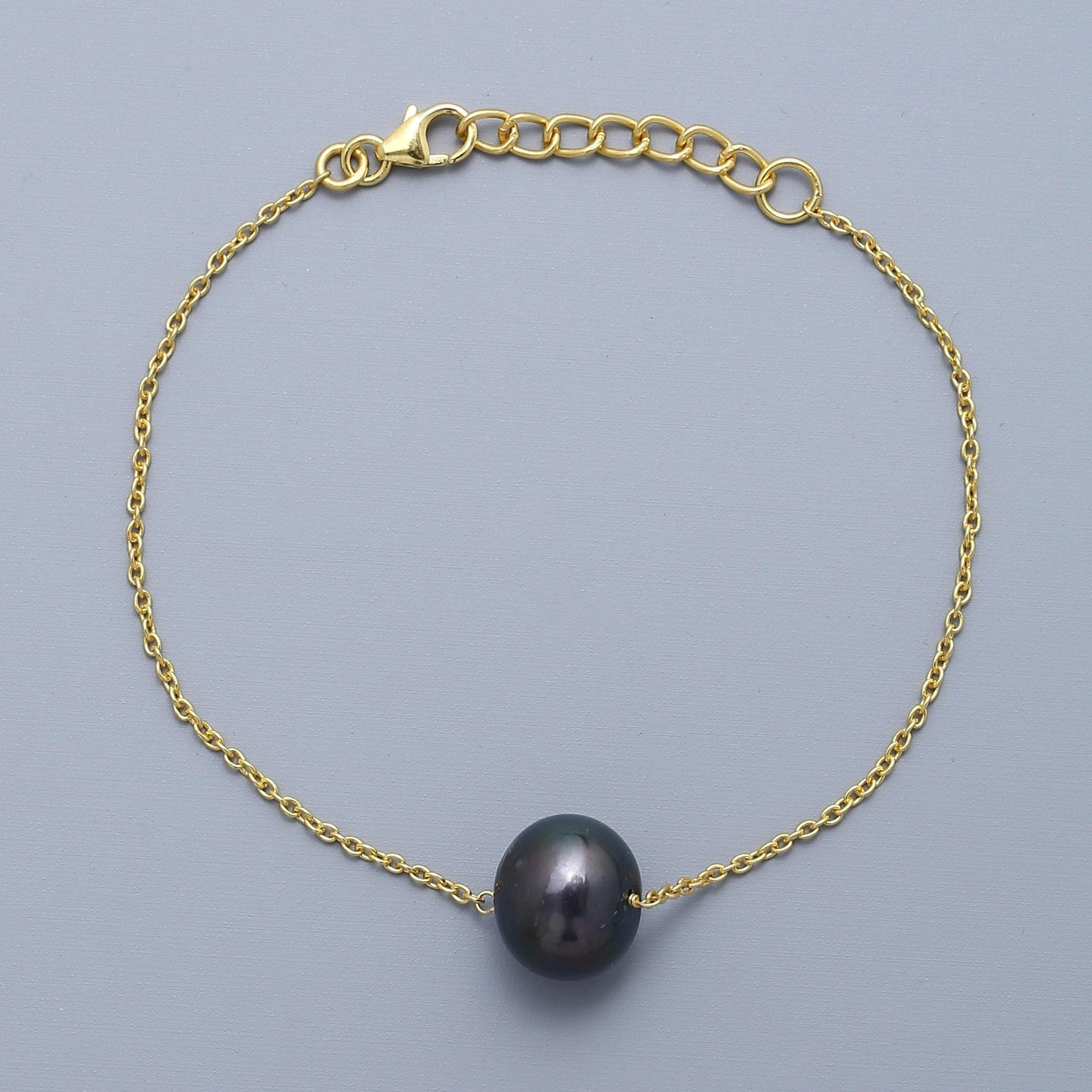 Solo Tahitian Pearl Bracelet - Gold Plated