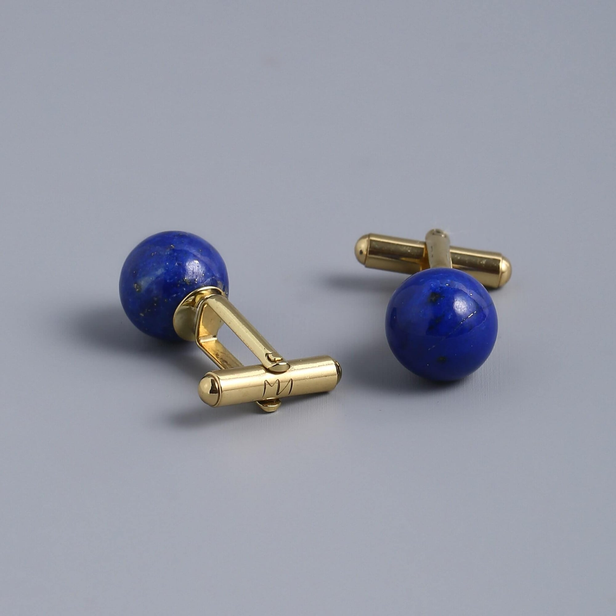 Blue Lapis Lazuli Cufflinks For Men