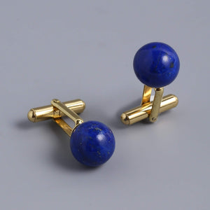 Blue Lapis Cufflinks For Him