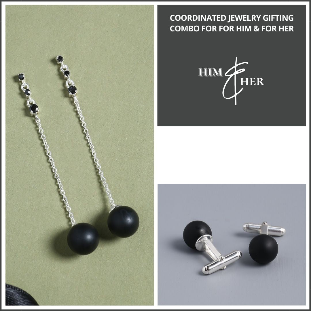 Onyx Jewelry Gift Combo For Him & Her