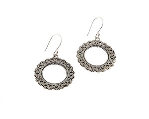 Sterling silver hoop style earrings