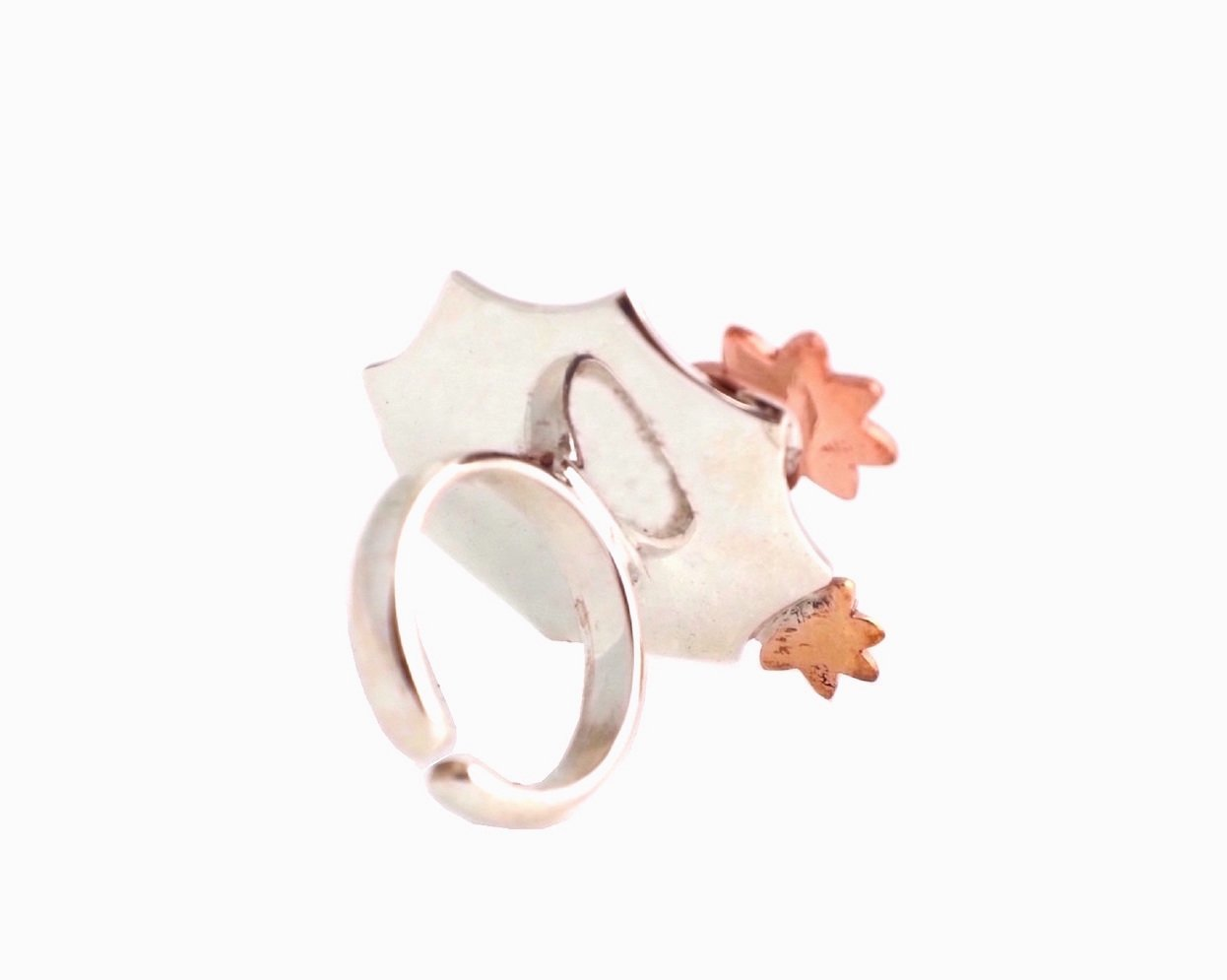 Back view of cocktail ring