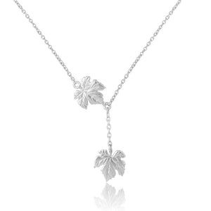 Sterling silver handcrafted ivy leaves pendant