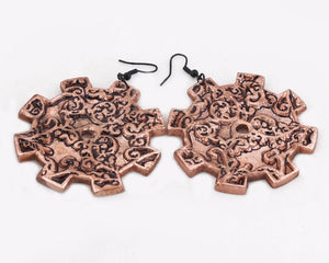 Gutsy gear earrings